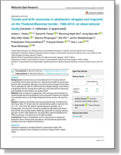 Trends and birth outcomes in adolescent refugees and migrants from the Thailand-Myanmar border, 1986 – 2016: an observational study